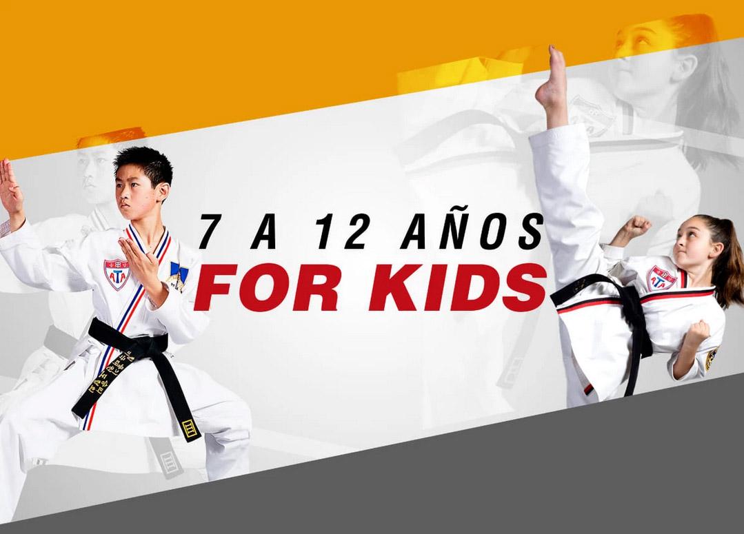 Taekwondo niños de 7 a 12 años